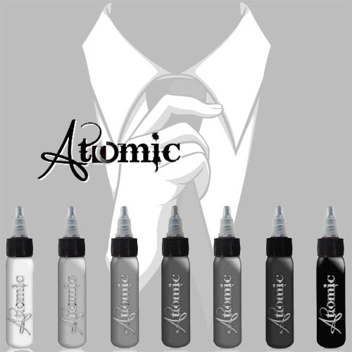Atomic INK Black White Grey
