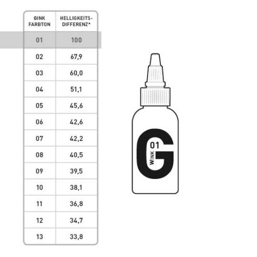 G INK Tattoofarbe 01 50ml