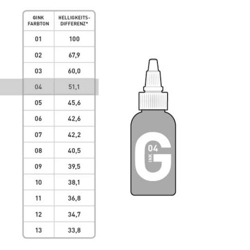 G INK Tattoo Farbe 04 50ml