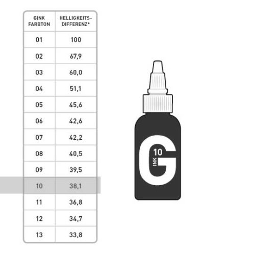 G INK Tattoo Farbe 10 50ml