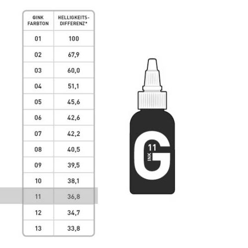 G INK Tattoo Farbe 11 50ml