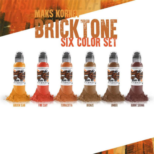 World Famous Ink - Maks Bricktone Set