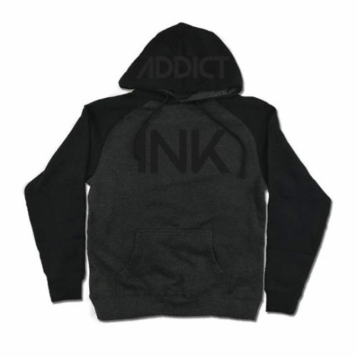 INK CHARCOAL HEATHER / BLACK MEN'S RAGLAN PULLOVER