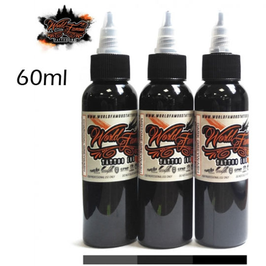 World Famous Ink - Charcoal Set 60ml