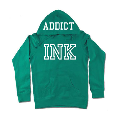 INK 2.0 WOMEN'S TEAL LIGHTWEIGHT PULLOVER HOODIE