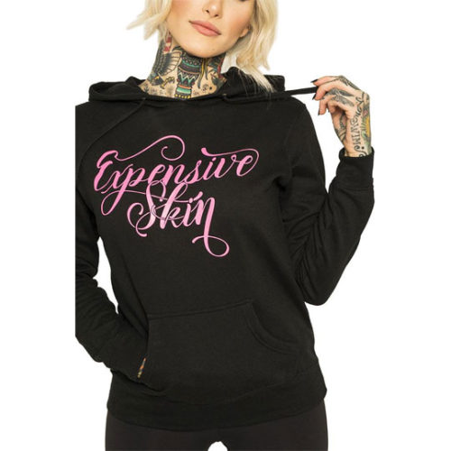 EXPENSIVE SKIN II WOMEN'S BLACK/PINK PULLOVER