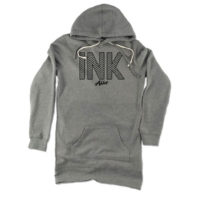 InkAddict – Ink Hearts Grey – Womens Hoodie Dress
