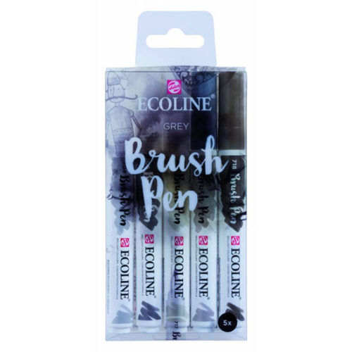 Ecoline Brush Pen - Black Set