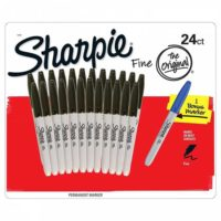 Sharpie – 24 Fine Point Marker – Schwarz + 1 Blau